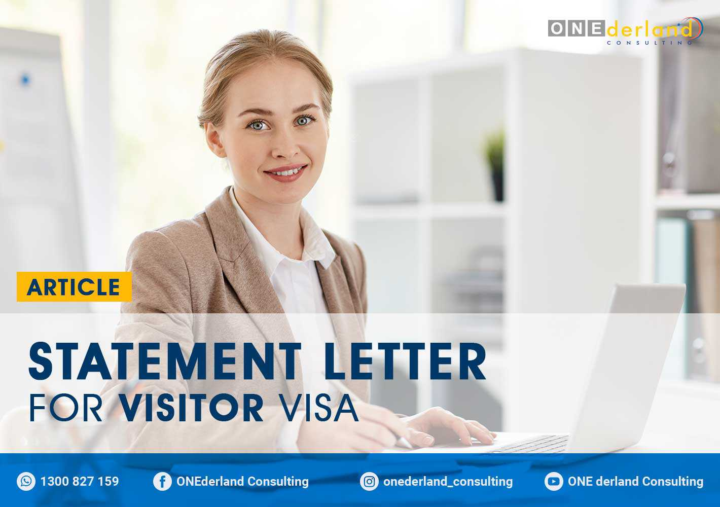 Statement Letter For Visitor Visa