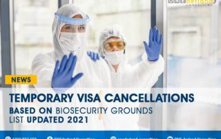 Temporary Visa Cancellations Based on Biosecurity Grounds List Updated 2021
